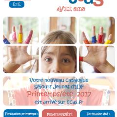 Catalogue Séjours Jeunes IDF – Printemps-Eté 2017