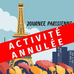 Activité annulée – Journée parisienne