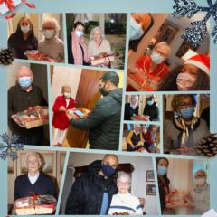 Distribution des colis de Noël du Réseau Solidaire