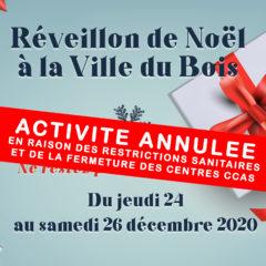 Activité annulée // Réseau solidaire : Réveillon de Noël à la Ville du Bois