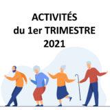 Activités des inactifs 1er trimestre 2021