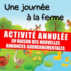 Activité annulée // Journée à la ferme pour les 4/12 ans