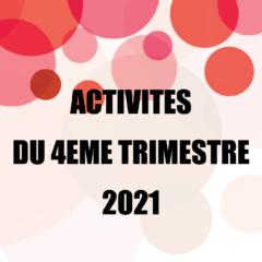 Activités des Inactifs 4ème trimestre 2021